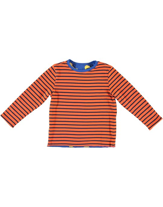 Tee shirt garçon manches longues réversible JOVITEE3 / 20S902D3TML703