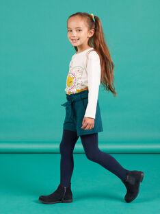 Short paperbag milano à carreaux enfant fille MATUSHORT / 21W901K1SHO070
