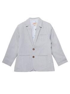 Veste garçon de cérémonie fines rayures grises JOPOEVES / 20S902G1VES940
