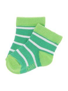 Chaussettes rayées bébé garçon CYUJOCHO11B / 18SI10SASOQ099
