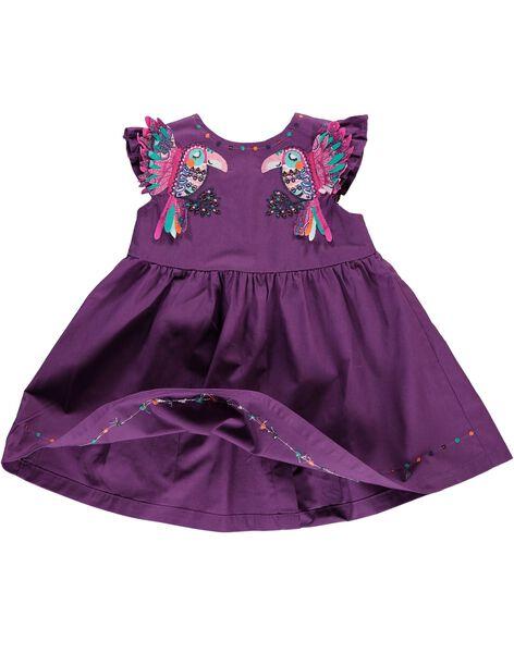 Robe manches courtes bébé fille CIGAUROB3 / 18SG09L3ROB710