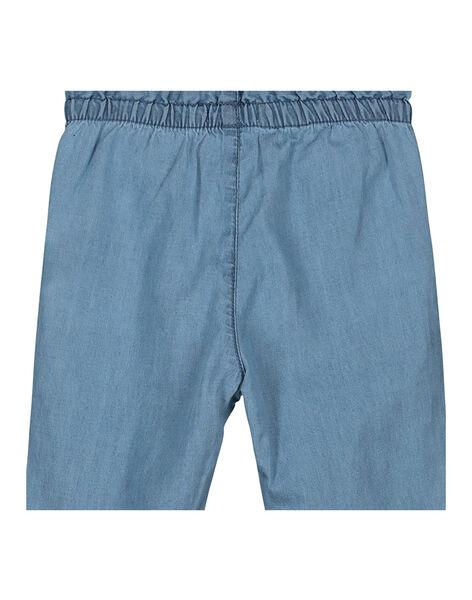 Pantalon en toile de jean bébé fille FINEPAN / 19SG09B1PAN721