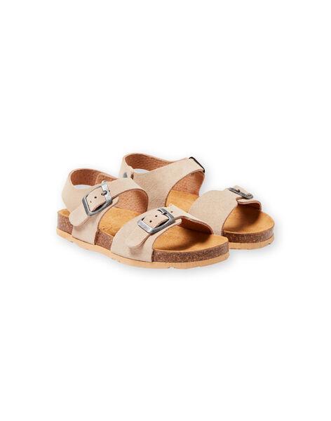 Sandales beiges enfant garçon LGNUBEIGE / 21KK3653D0E080