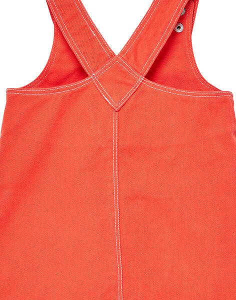 Robe salopette orange bébé fille JIVIROB2 / 20SG09D2ROBE400