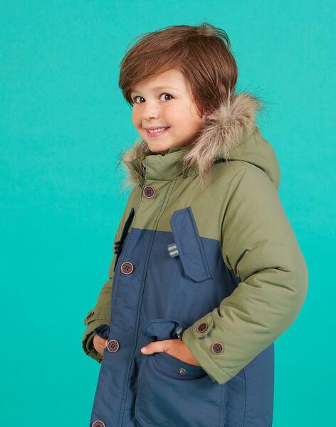 Parka 3-en-1 bicolore enfant garçon MOGROPAR1 / 21W90252PAR628