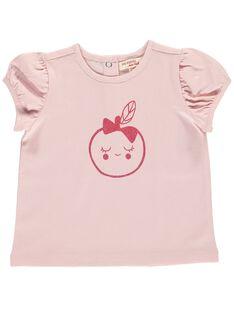 Tee-shirt manches courtes bébé fille CIJOTI4B / 18SG09R5TMC321
