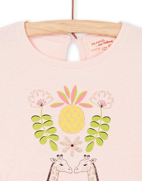 Tee Shirt Manches Courtes Rose LAJAUTI1 / 21S901O1TMC307