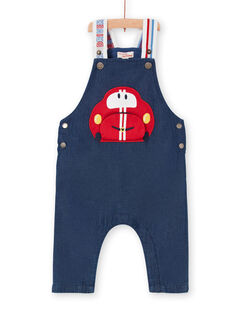 Salopette en jean animation voiture bébé garçon LUHASAL2 / 21SG10X1SALP274