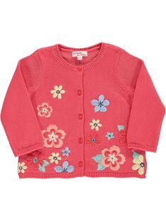 Gilet en coton bébé fille CIBUCAR2 / 18SG09K2CARF515