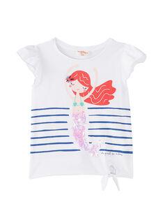 T-shirt manches courte avec sirène imprimé et sequins  JACEATI2 / 20S901N1TMC000