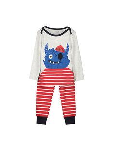 Pyjama en coton garçon FEGOPYJMON / 19SH124BPYJJ906