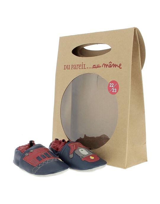 Chausson en cuir bébé garçon DNGPOMPIER / 18WK47W1D3S070