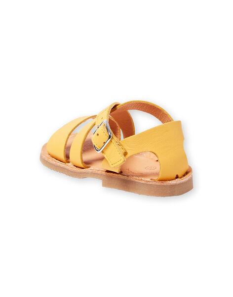 Sandales jaunes bébé fille LBFSANDSUN / 21KK3758D0E010