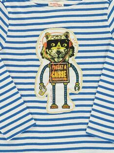 Tee-shirt manches longues garçon DOBLETEE3 / 18W90293TMLA001
