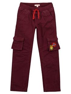 Pantalon cargo Doublé polaire Bordeaux GOVIOPAN1 / 19W902R1PAN711