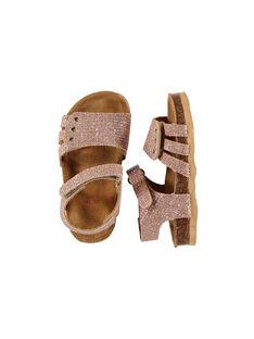 Sandale ville cuir bébé fille FBFNUGOLD / 19SK37D3D0E954