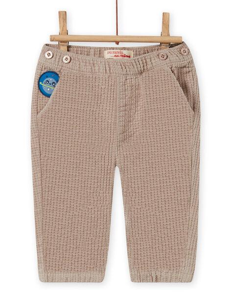 Pantalon à carreaux et bretelles rayées bébé garçon MUPLAPAN2 / 21WG10O2PAN817