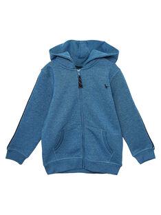 Haut de jogging garçon bleu chine JOJOJOH3 / 20S90254D33C206