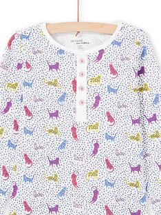 Pyjama à pois et imprimé léopards enfant fille MEFAPYJPAN / 21WH1134PYJ001