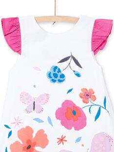 Robe manches courtes, imprimé papillon et fleurs LAVIROB3 / 21S901U2ROB000