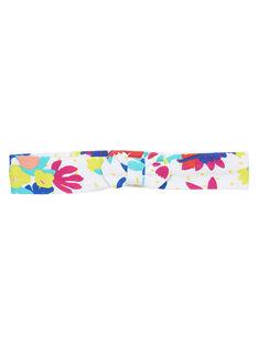 Bandeau blanc à imprimé fleuri enfant fille JYIMARBAN / 20SI09P1BAN000