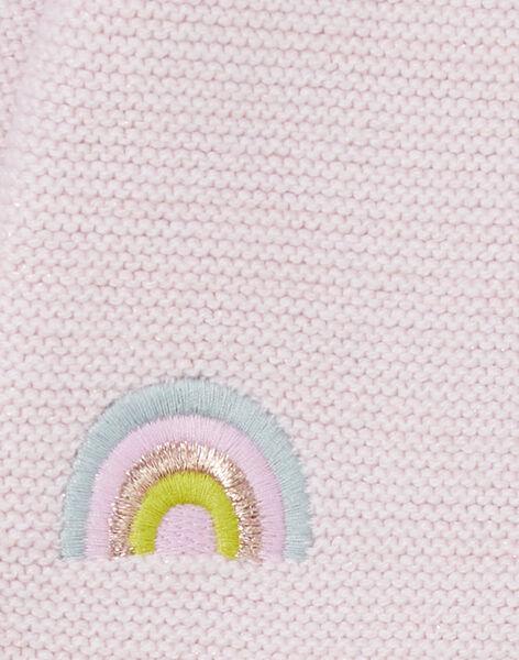 Gilet en tricot parme avec lurex bébé fille KIBOCAR1 / 20WG09N1CARH707