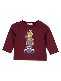 Tee shirt manches longues raisin bébé garçon GUVIOTEE1 / 19WG10R1TML711