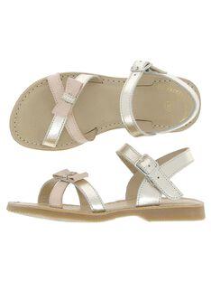 Sandale en cuir fille CFSANDNOEU / 18SK35WJD0E954