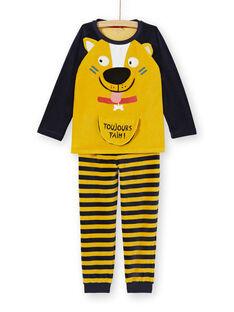 Pyjama PHOSPHORESCENT enfant garçon motif chien KEGOPYJDOG / 20WH12C1PYJB107