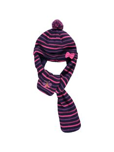 Bonnet-écharpe bébé fille DYIVIOBON / 18WI09H1BON099