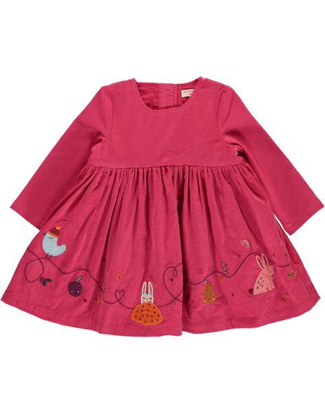 Robe en velours bébé fille DIPINROB2 / 18WG09P3ROB302