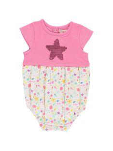 Barboteuse bi-matière bébé fille CIMABAR2 / 18SG09U2BAR313
