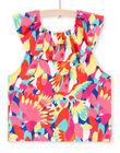 T-shirt à imprimé perroquets à volants enfant fille JAMARTI2 / 20S901P1TMC000