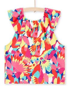 T-shirt volanté et imprimé perroquet   JAMARTI2 / 20S901P1TMC000