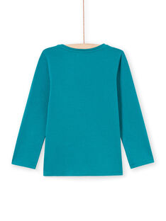 T-shirt turquoise foncé enfant fille MAJOYTEE6 / 21W9012ATMLC217