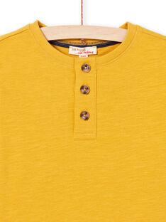 T-shirt jaune enfant garçon MOJOTUN2 / 21W90213TML113