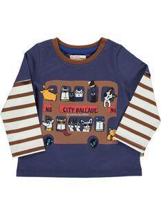 Tee-shirt manches longues effet 2 en 1 bébé garçon DUCHOTEE1 / 18WG10F1TML710