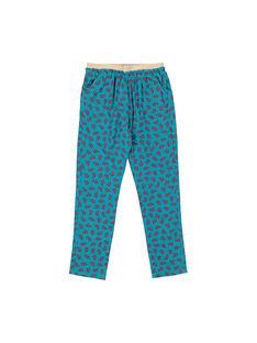 Pantalon fluide imprimé fille FACAPANT / 19S901D1PAN099