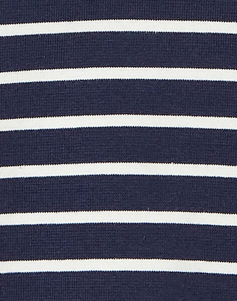 Robe en milano rayée à manches courtes, col claudine et cœur en sequins KAJOROB3 / 20W90132ROB070