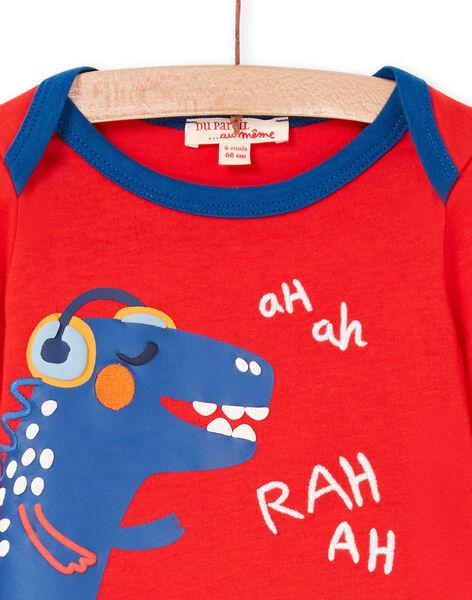Tee Shirt Manches Longues Rouge LUCANTEE1 / 21SG10M1TMLF505