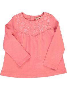 Tee-shirt manches longues bébé fille CIJOTEE2A / 18SG09R4TML404