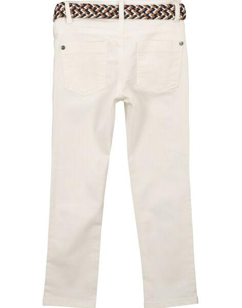 Jean blanc avec ceinture garçon FOJOUPAN1 / 19S902T1PAN000