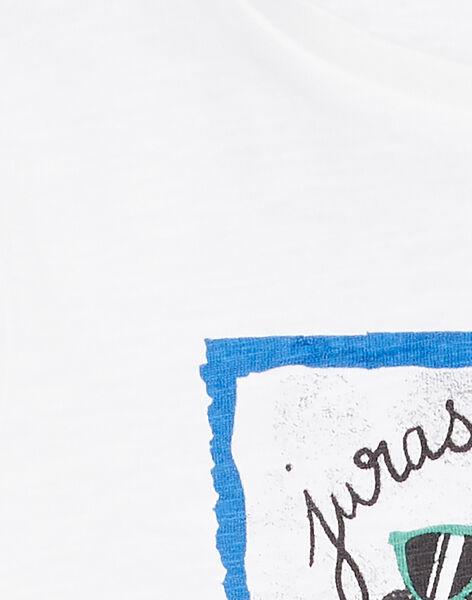 Tee shirt manches longues blanc enfant garçon KOJOTEE3 / 20W90233D32000