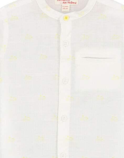 Chemise blanche col Mao bébé garçon FUPOCHEM / 19SG10C1CHM099