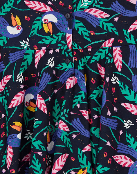 Robe Bleu nuit LANAUROB1 / 21S901P2ROBC205