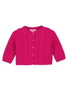 Cardigan en tricot avec lurex layette fille GIVIOCAR1 / 19WG09R2CARD320
