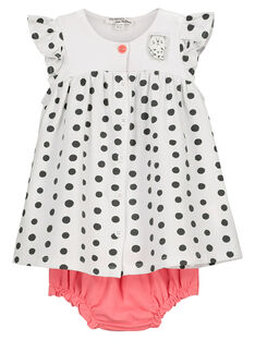 Ensemble robe et bloomer bébé fille FOU2ROB / 19SF05J1ROB000
