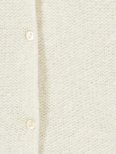 Cardigan écru et lurex doré KAJOCAR2 / 20W90152D3C001