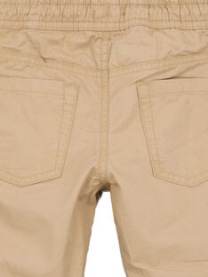 Pantalon doublé jersey noisette GOTRIPAN2 / 19W902J2PANI807