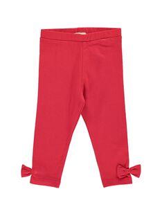 Legging rouge bébé fille CYIJOLEG3 / 18SI09R3CALF518